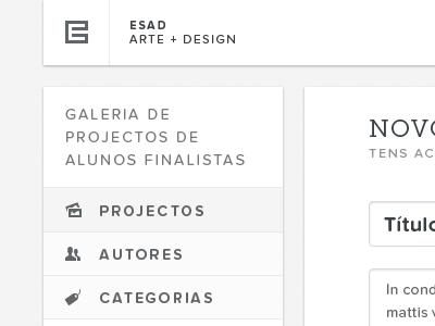 Gallery — Menu portugal web white black typography proxima nova soft entypo museo slab gallery icons