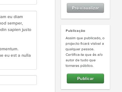 Gallery — Publish portugal web white black typography proxima nova soft gallery input submit publish button