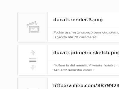 Gallery — Draggable items portugal web white black typography proxima nova soft entypo gallery icons drag