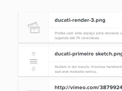 Gallery — Draggable items portugal web white black typography proxima nova soft entypo gallery icons drag