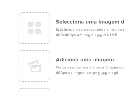 Gallery — Add image portugal web white black typography proxima nova soft entypo gallery icons button
