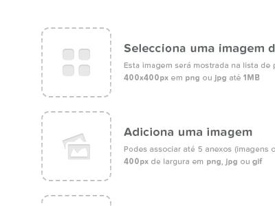 Gallery — Add image portugal web white black typography proxima nova soft entypo gallery icons button
