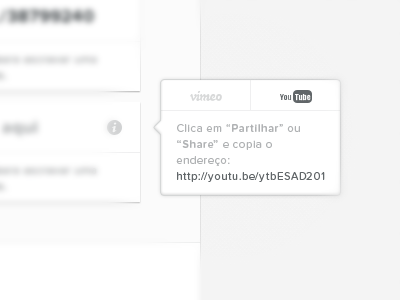 Gallery — Embed video info portugal web white black typography proxima nova soft tooltip video info