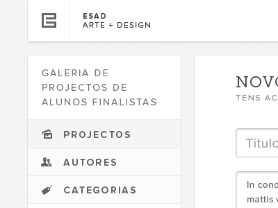 Gallery — Menu (Rebound) portugal web white black typography proxima nova soft museo slab gallery forms text area entypo