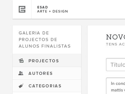 Gallery — Menu (Rebound) portugal web white black typography proxima nova soft museo slab gallery forms text area entypo