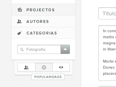 Gallery — Sort by portugal web white black typography proxima nova soft gallery forms text area entypo button sort