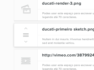Gallery — Draggable items (Rebound) portugal web white black typography proxima nova soft entypo gallery icons drag