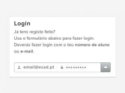 Gallery — Login portugal web white black typography proxima nova soft gallery input submit button email password