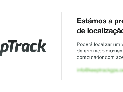 KeepTrack — Coming soon page portugal white black green keeptrack gps helvetica exo non-profit coming soon