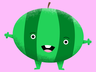Watermelon characterdesign vector affinitydesigner affinity summer color illustration childillustration character design cartoon fruit watermelon