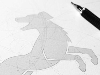 Dog Logo australian shepard aussie dog circles construction progress gridlines guidelines iconography symbol guiding grids animal logo logo designer icon designer identity designer iconographer symbol designer logo design icon design