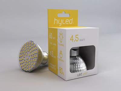 hyled packaging design bulb minimal print led box packaging