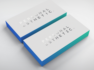 Dentist Business Card silver foil thick card dentist edge print personal brand medical gradient business card