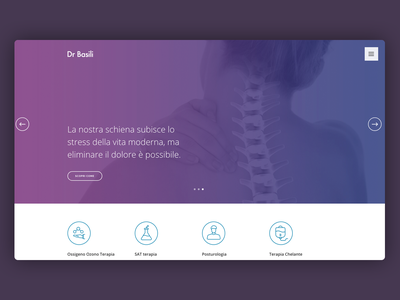 Medical Landing Page custom icon gradient web design website wide responsive css therapy back surgery medical hero landing page webdesign