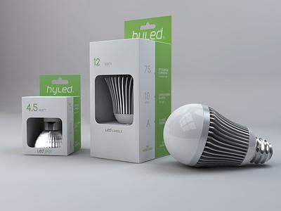 hyled packaging led minimalism bulb design packaging