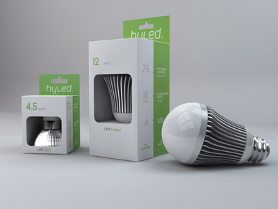 hyled packaging led minimalism bulb design packaging