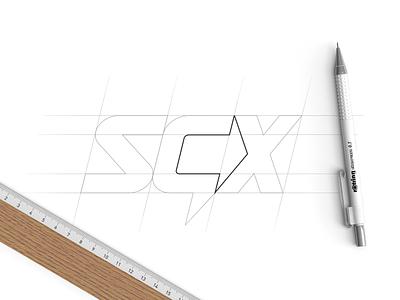 SGX logomark import export company logotype type logomark arrow monogram space negative negative space fedex