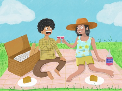 Picnic with someone illustration artwork digital painting digital art picnic digital illustration digitalart art illustration