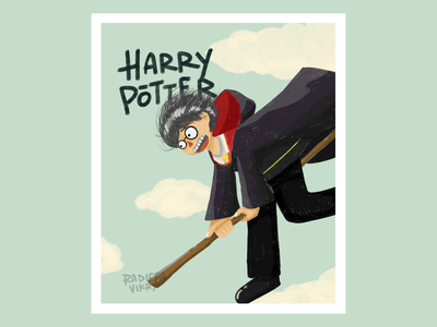 Harry Potter (FanArt) good artwork flying digitalart digital art digital illustration illustraion hogwarts harry potter fan art harry potter illustration harry harry potter harrypotter