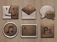 Leather icons