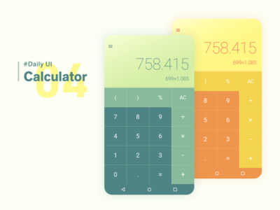Daily UI Challenge #004 Calculator