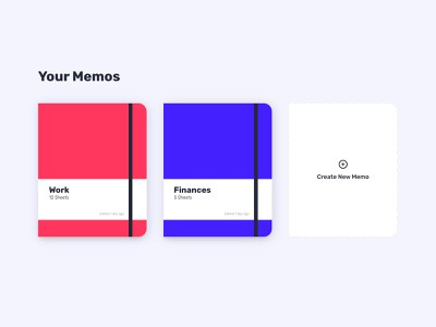 Memos and notebooks for Memo app moleskine notes illustrations design ux ui madewithxd adobexd usememo app memo memos notebooks