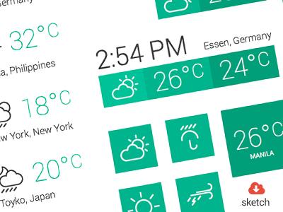 Weather Widgets (.sketch) weather widgets sketch sketchapp bohemian resource free