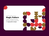 Exploring hero image with Magic Pattern freebie free adobexduikit adobexd madewithadobexd madewithxd adobe xd patternui pattern round patterns geometric patterns magicpattern patterns