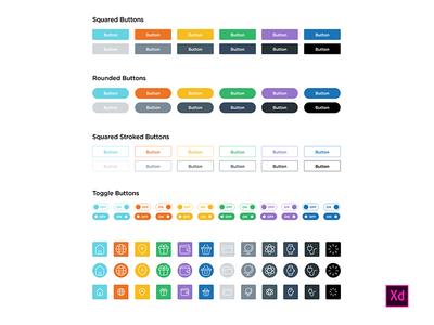 Adobe XD UI Elements Freebies