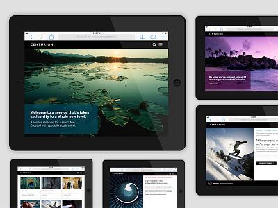 American Express Centurion Responsive Digital Guide html5 hybrid app hybridapp tablet responsive amex centurion