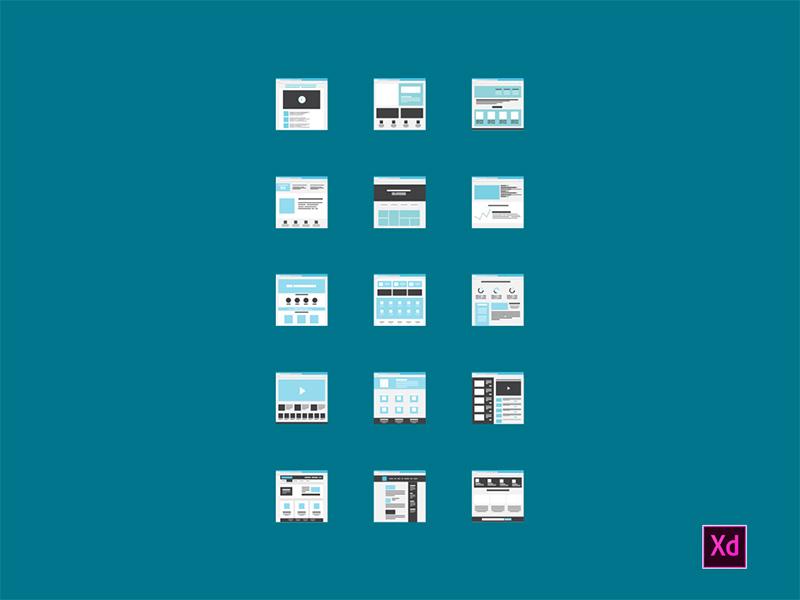Tiny Miniature Wireframes - Adobe Xd free freebie tiles ui xd adobe xd ux workflow wireframes