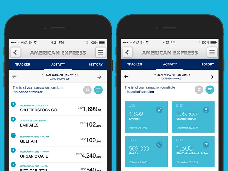 american express spend stim tracker by hannah milan dribbble