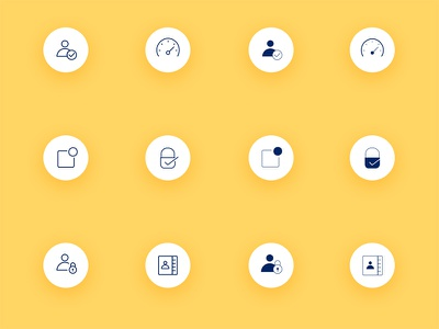 App Icons  filled line thin stroke mobile icons app