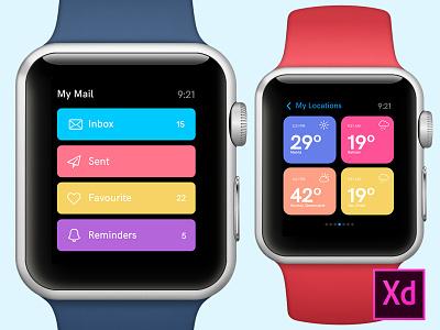 Freebie - Apple Watch Design Concepts watchos wearables app ux ui design concept watch apple xd adobexd freebie