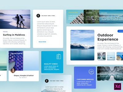 Freebie - Blog Components for Adobe Xd