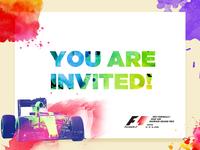 Formula One emailer invite