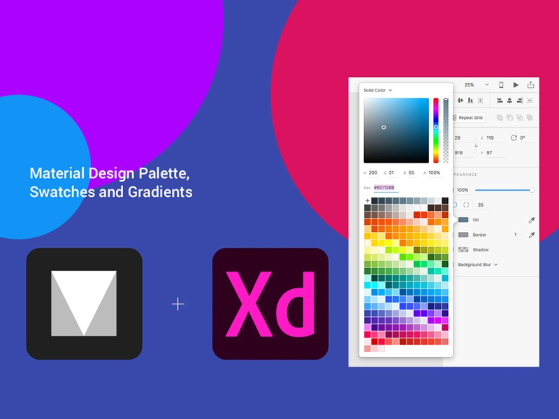 Download Freebie – Material Design Color Palette for Adobe Xd