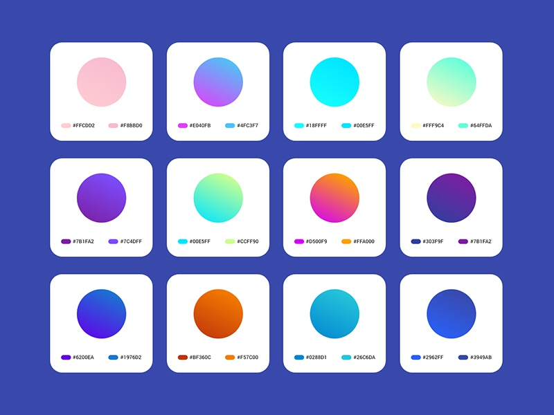 Download Freebie –  Gradients for Adobe Xd