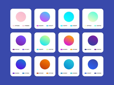 Freebie -  Gradients for Adobe Xd materialdesign material swatches gradients adobexd adobe