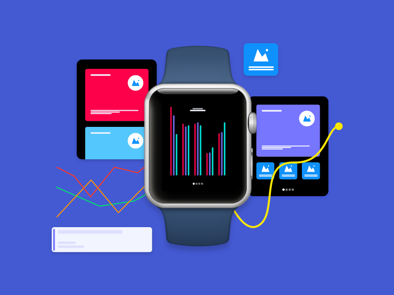 Apple Watch UI Components for Adobe XD watchos freebie adobexd adobe ui components watch apple