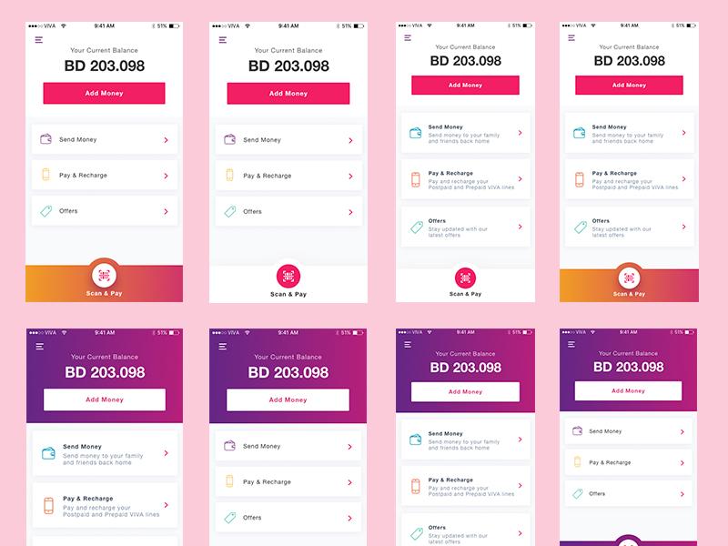 Finance App - Home Screen cash viva payment pay finance mobile app homescreen finance app