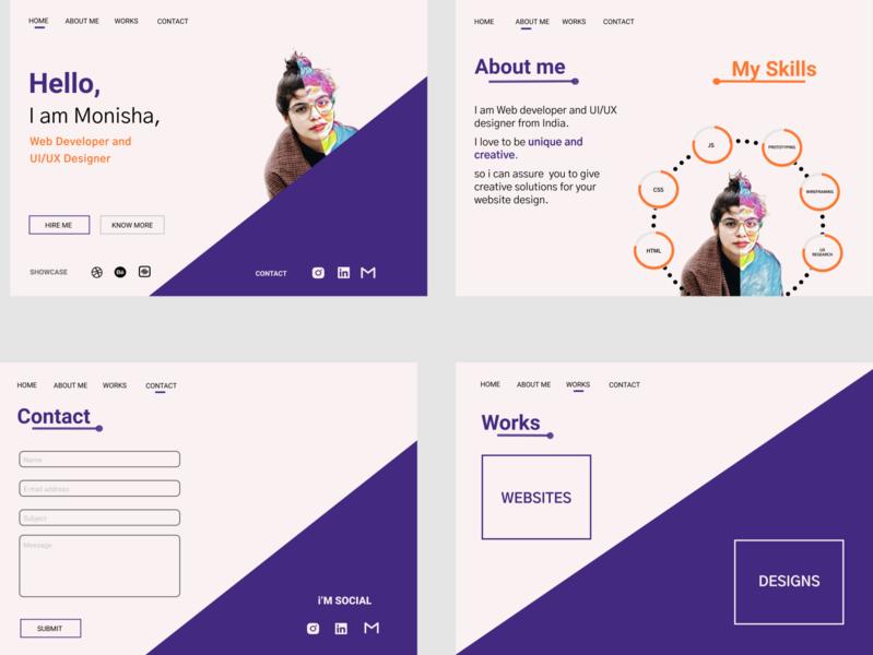 personal portfolio complete design uiux webdesign figma design uiuxdesign uidesign