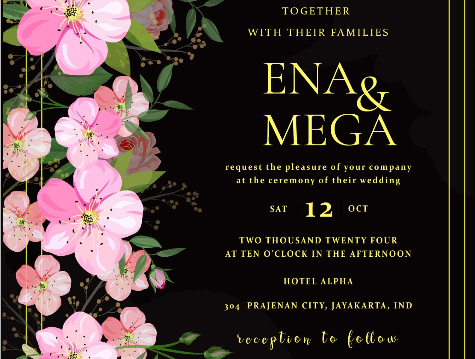 Wedding Invitation Card Background By Daniel Ena On Dribbble