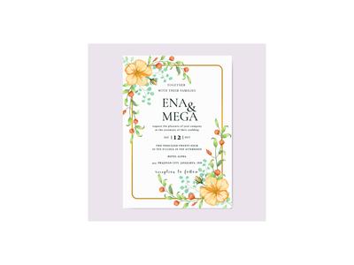 Weddding invitation card design