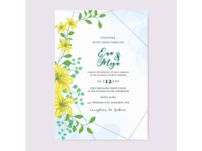 Beautiful wedding invitation card design