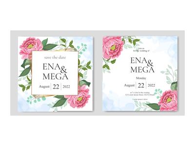 bundle set wedding invitation floral frame background