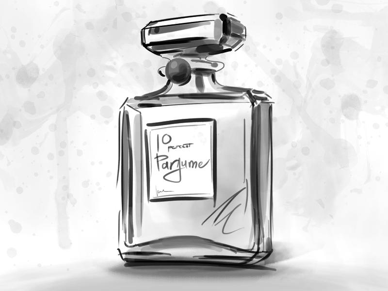 Perfume Sketch perfume sketch photoshop