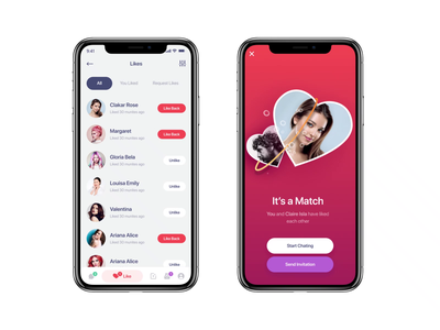 Dating App 💖 Contact Matching 🌹 send invitation bubble contact matching app animation tinder dating love leving together aftereffects animation love birds valentines valentines day uiux mobile ui ui clean design uiuxdesign mobile app match