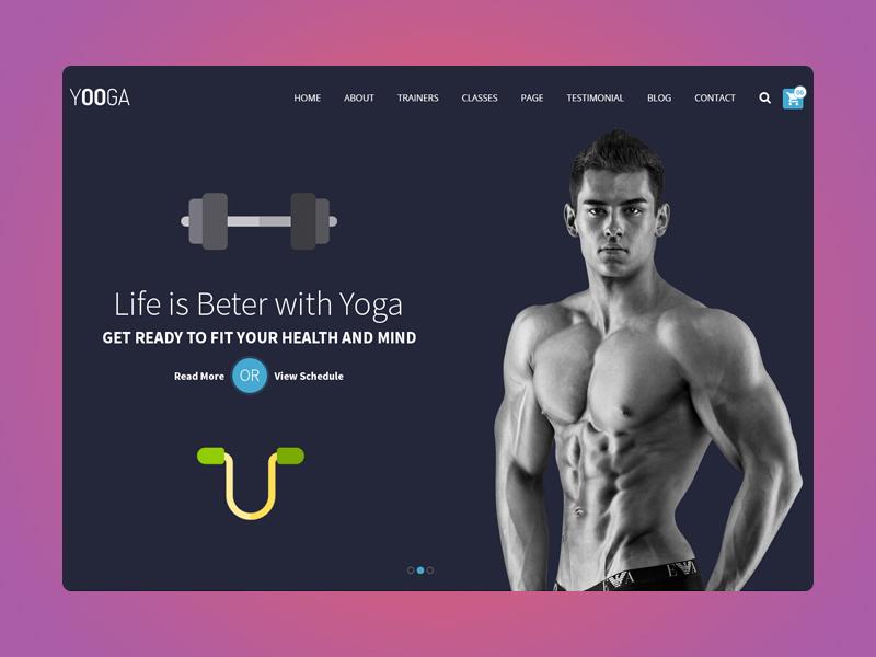 Yooga - Yoga and Fitness Website Theme yoga training sport personal trainer health club health gym fitness club fitness center fitness dance bodybuilding