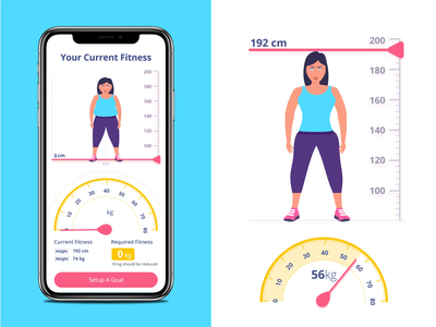 Body Building App Interaction clean design health body building progress fitness meter app workout gym fitness mobile ui meals interaction illustration fitness app design tracking calories app mobile app fitness guide app animation